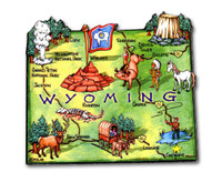 Wyoming Artwood State Magnet Collectible Souvenir by Classic Magnets