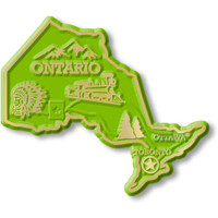 Ontario Province Magnet by Classic Magnets, Collectible Souvenirs Made in the USA