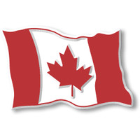 Canadian Flag Magnet by Classic Magnets, Collectible Souvenirs Made in the USA