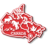 Canada Map Magnet by Classic Magnets, Collectible Souvenirs Made in the USA