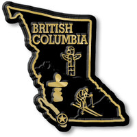 British Columbia Province Magnet by Classic Magnets, Collectible Souvenirs Made in the USA