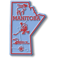 Manitoba Province Magnet by Classic Magnets, Collectible Souvenirs Made in the USA