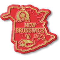 New Brunswick Province Magnet by Classic Magnets, Collectible Souvenirs Made in the USA