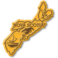 Nova Scotia Province Magnet by Classic Magnets, Collectible Souvenirs Made in the USA
