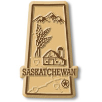 Saskatchewan Province Magnet by Classic Magnets, Collectible Souvenirs Made in the USA