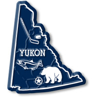 Yukon Territory Magnet by Classic Magnets, Collectible Souvenirs Made in the USA