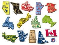 Canada Magnet Set by Classic Magnets, 14-Piece Set, Collectible Souvenirs Made in the USA