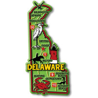 """Delaware Colorful State Magnet by Classic Magnets, 2.2"""" x 4.7"""", Collectible Souvenirs Made in the USA"""