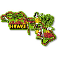 """Hawaii Colorful State Magnet by Classic Magnets, 4.5"""" x 2.8"""", Collectible Souvenirs Made in the USA"""