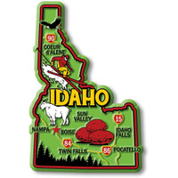 """Idaho Colorful State Magnet by Classic Magnets, 2.7"""" x 4"""", Collectible Souvenirs Made in the USA"""