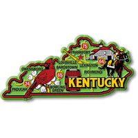 """Kentucky Colorful State Magnet by Classic Magnets, 4.6"""" x 2.3"""", Collectible Souvenirs Made in the USA"""