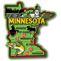 """Minnesota Colorful State Magnet by Classic Magnets, 3"""" x 3.3"""", Collectible Souvenirs Made in the USA"""
