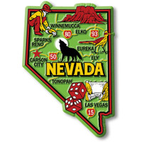 """Nevada Colorful State Magnet by Classic Magnets, 2.5"""" x 3.6"""", Collectible Souvenirs Made in the USA"""