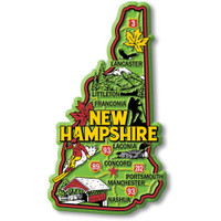 """New Hampshire Colorful State Magnet by Classic Magnets, 2.4"""" x 4.3"""", Collectible Souvenirs Made in the USA"""