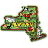 """New York Colorful State Magnet by Classic Magnets, 4"""" x 3.1"""", Collectible Souvenirs Made in the USA"""