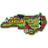 """North Carolina Colorful State Magnet by Classic Magnets, 4.8"""" x 2.3"""" Collectible Souvenirs Made in the USA"""