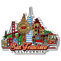 San Francisco City Magnet by Classic Magnets, Collectible Souvenirs Made in the USA