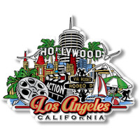 Los Angeles City Magnet by Classic Magnets, Collectible Souvenirs Made in the USA
