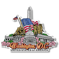 Washington, D.C. Magnet by Classic Magnets, Collectible Souvenirs Made in the USA