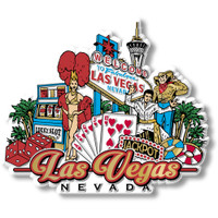 Las Vegas City Magnet by Classic Magnets, Collectible Souvenirs Made in the USA