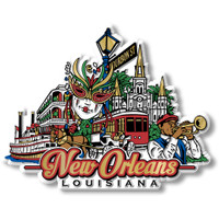 New Orleans City Magnet by Classic Magnets, Collectible Souvenirs Made in the USA