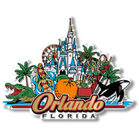 Orlando City Magnet by Classic Magnets, Collectible Souvenirs Made in the USA