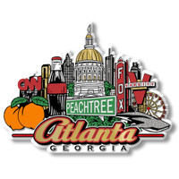 Atlanta City Magnet by Classic Magnets, Collectible Souvenirs Made in the USA