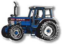 Blue Tractor with Cab Magnet by Classic Magnets, Collectible Souvenirs Made in the USA