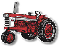 Vintage Red & White Tripod Tractor Magnet by Classic Magnets, Collectible Souvenirs Made in the USA