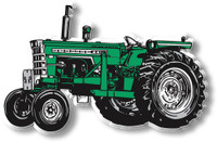 Green & White Tractor Magnet by Classic Magnets, Collectible Souvenirs Made in the USA