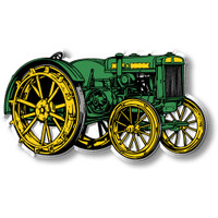 Antique Green Steel-Wheel Tractor Magnet by Classic Magnets, Collectible Souvenirs Made in the USA