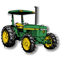 Green & Yellow Tractor with Shade Magnet by Classic Magnets, Collectible Souvenirs Made in the USA
