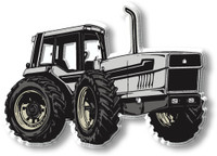 Silver 4WD Tractor Magnet by Classic Magnets, Collectible Souvenirs Made in the USA