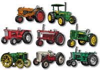 Classic Tractor Magnet Set of 8 by Classic Magnets, Collectible Souvenirs Made in the USA