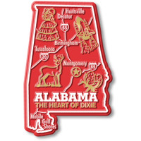 """Alabama Giant State Magnet by Classic Magnets, 2.5"""" x 3.8"""", Collectible Souvenirs Made in the USA"""