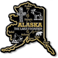 """Alaska Giant State Magnet by Classic Magnets, 3.7"""" x 3.7"""", Collectible Souvenirs Made in the USA"""