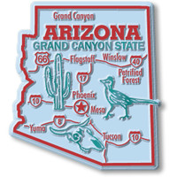 """Arizona Giant State Magnet by Classic Magnets, 2.8"""" x 3.1"""", Collectible Souvenirs Made in the USA"""
