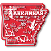 """Arkansas Giant State Magnet by Classic Magnets, 3.2"""" x 2.9"""", Collectible Souvenirs Made in the USA"""