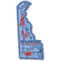 """Delaware Giant State Magnet by Classic Magnets, 2.5"""" x 5.2"""", Collectible Souvenirs Made in the USA"""