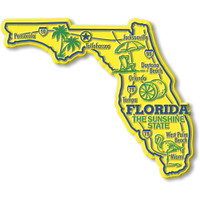 """Florida Giant State Magnet by Classic Magnets, 4.8"""" x 4"""", Collectible Souvenirs Made in the USA"""