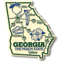 """Georgia Giant State Magnet by Classic Magnets, 3.1"""" x 3.5"""", Collectible Souvenirs Made in the USA"""