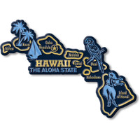 """Hawaii Giant State Magnet by Classic Magnets, 5.5"""" x 4"""", Collectible Souvenirs Made in the USA"""