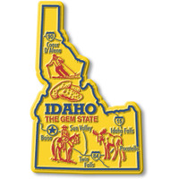 """Idaho Giant State Magnet by Classic Magnets, 2.9"""" x 4.4"""", Collectible Souvenirs Made in the USA"""