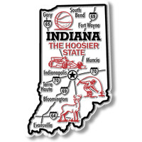 """Indiana Giant State Magnet by Classic Magnets, 2.5"""" 3.9"""", Collectible Souvenirs Made in the USA"""