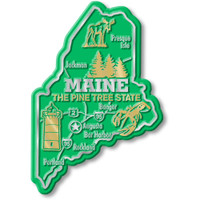 """Maine Giant State Magnet by Classic Magnets, 3"""" x 4.3"""", Collectible Souvenirs Made in the USA"""