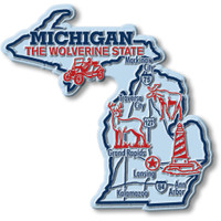 """Michigan Giant State Magnet by Classic Magnets, 4.1"""" x 4"""", Collectible Souvenirs Made in the USA"""