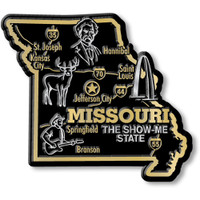 """Missouri Giant State Magnet by Classic Magnets, 3.6"""" x 3.2"""", Collectible Souvenirs Made in the USA"""