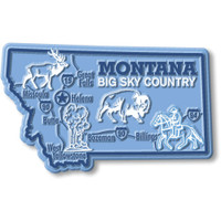 """Montana Giant State Magnet by Classic Magnets, 3.9"""" x 2.4"""", Collectible Souvenirs Made in the USA"""