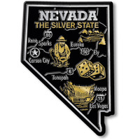"""Nevada Giant State Magnet by Classic Magnets, 2.7"""" 3.8"""", Collectible Souvenirs Made in the USA"""