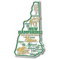 """New Hampshire Giant State Magnet by Classic Magnets, 2.7"""" x 4.8"""", Collectible Souvenirs Made in the USA"""